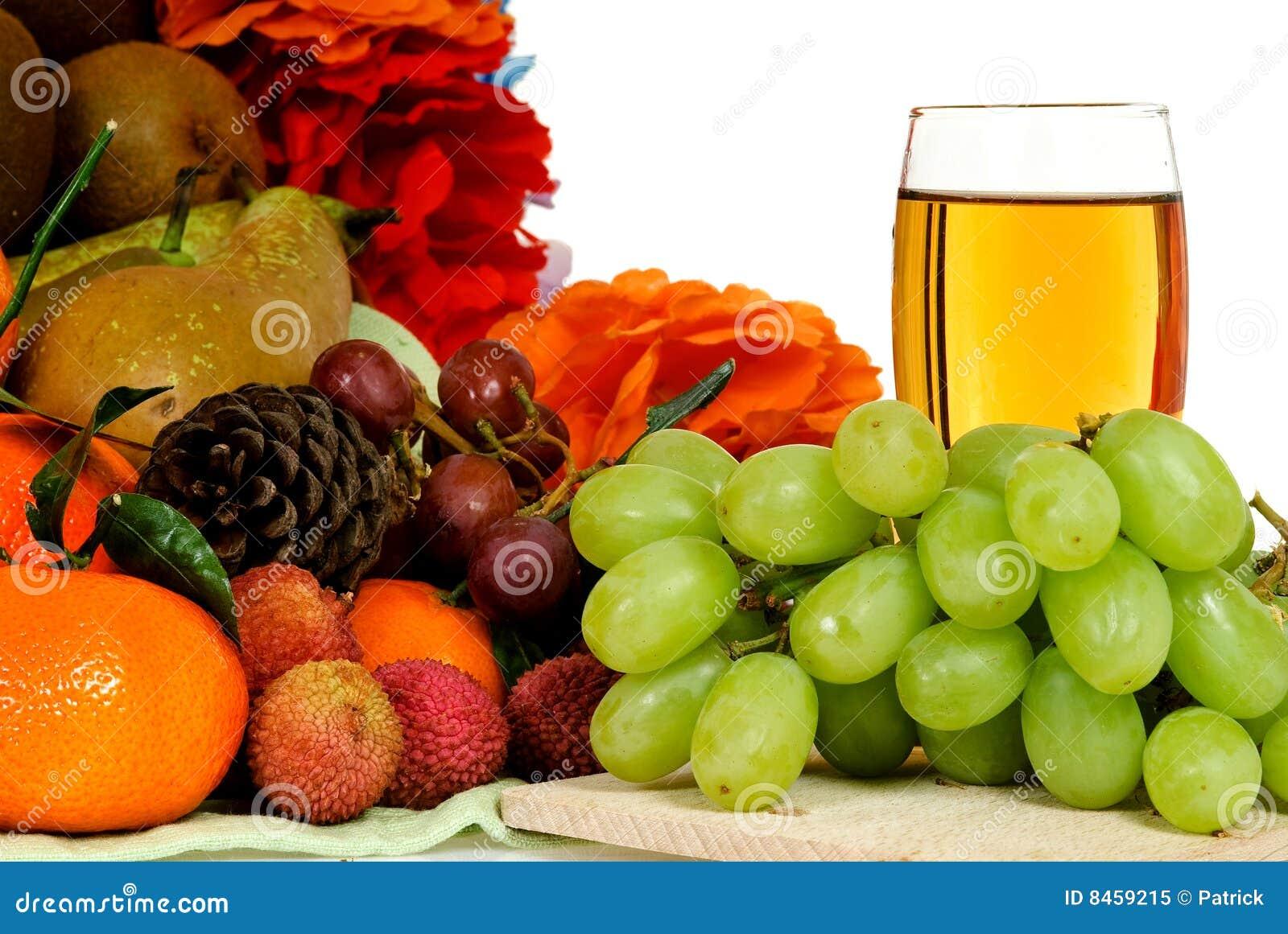 White för fruktsaft för korgfruktdruva