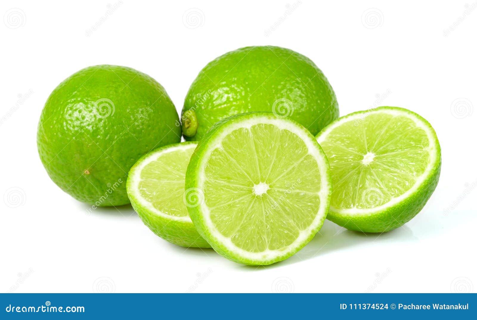 White för limefrukt för bakgrundsdof-green grund