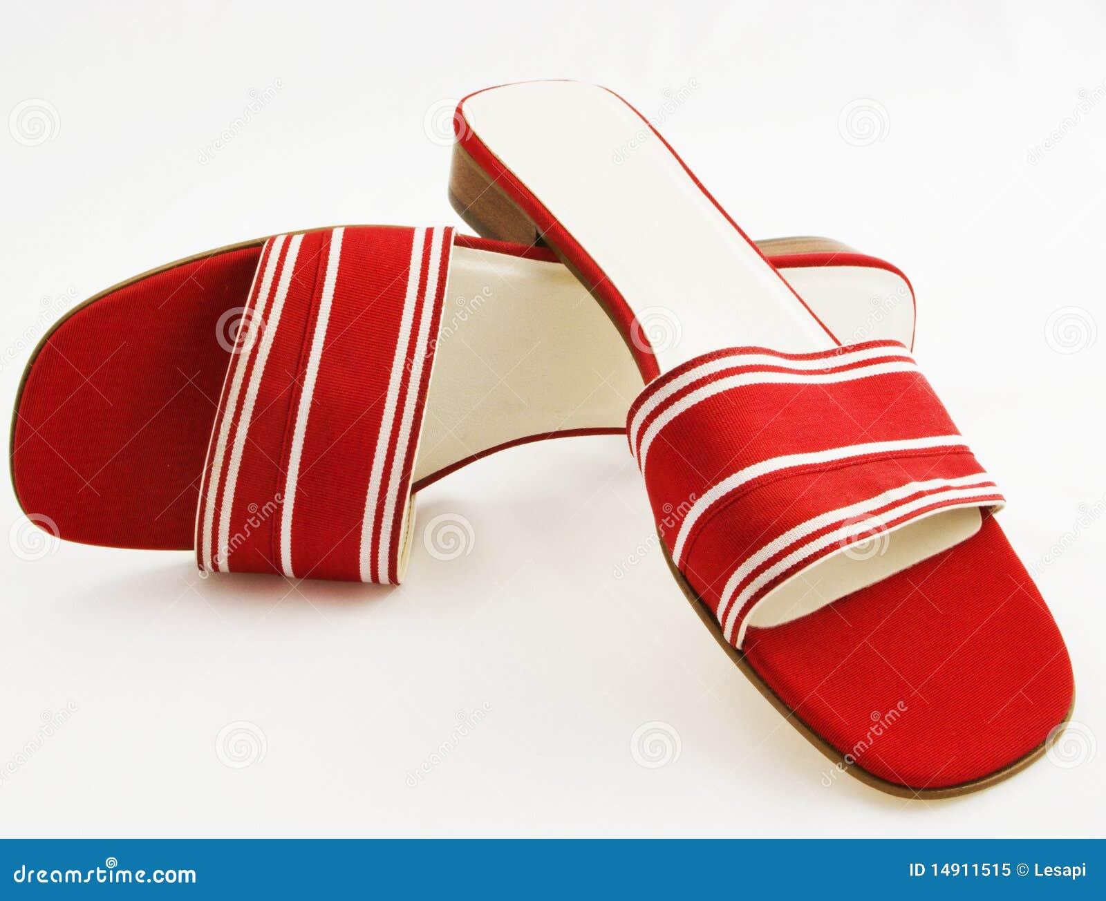 White för röda sandals för grosgrain sassy silk