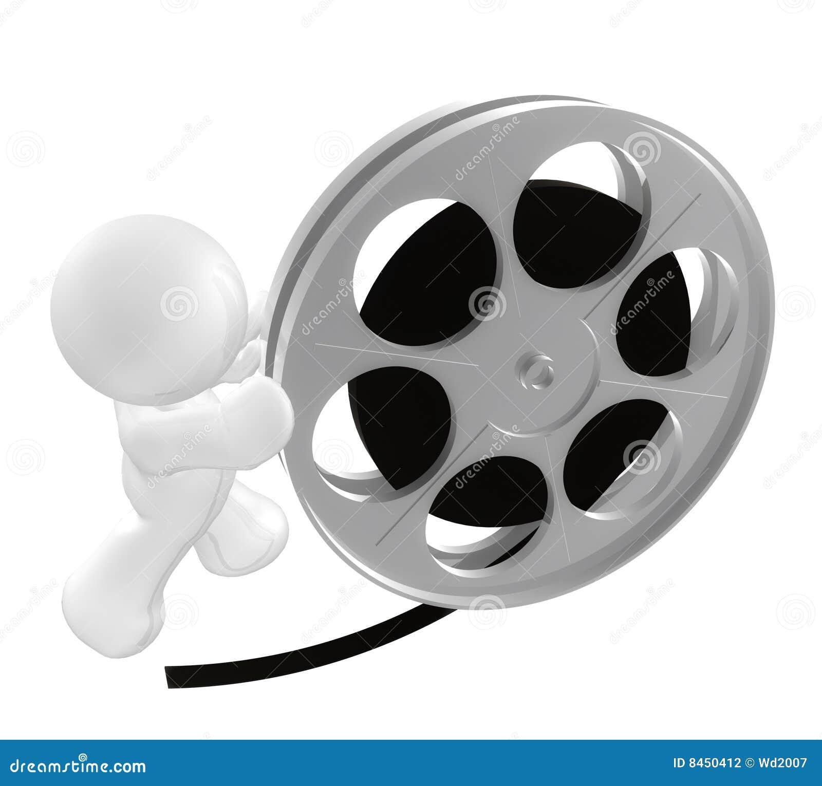 White för rullning för rulle för filmgrabbsymbol