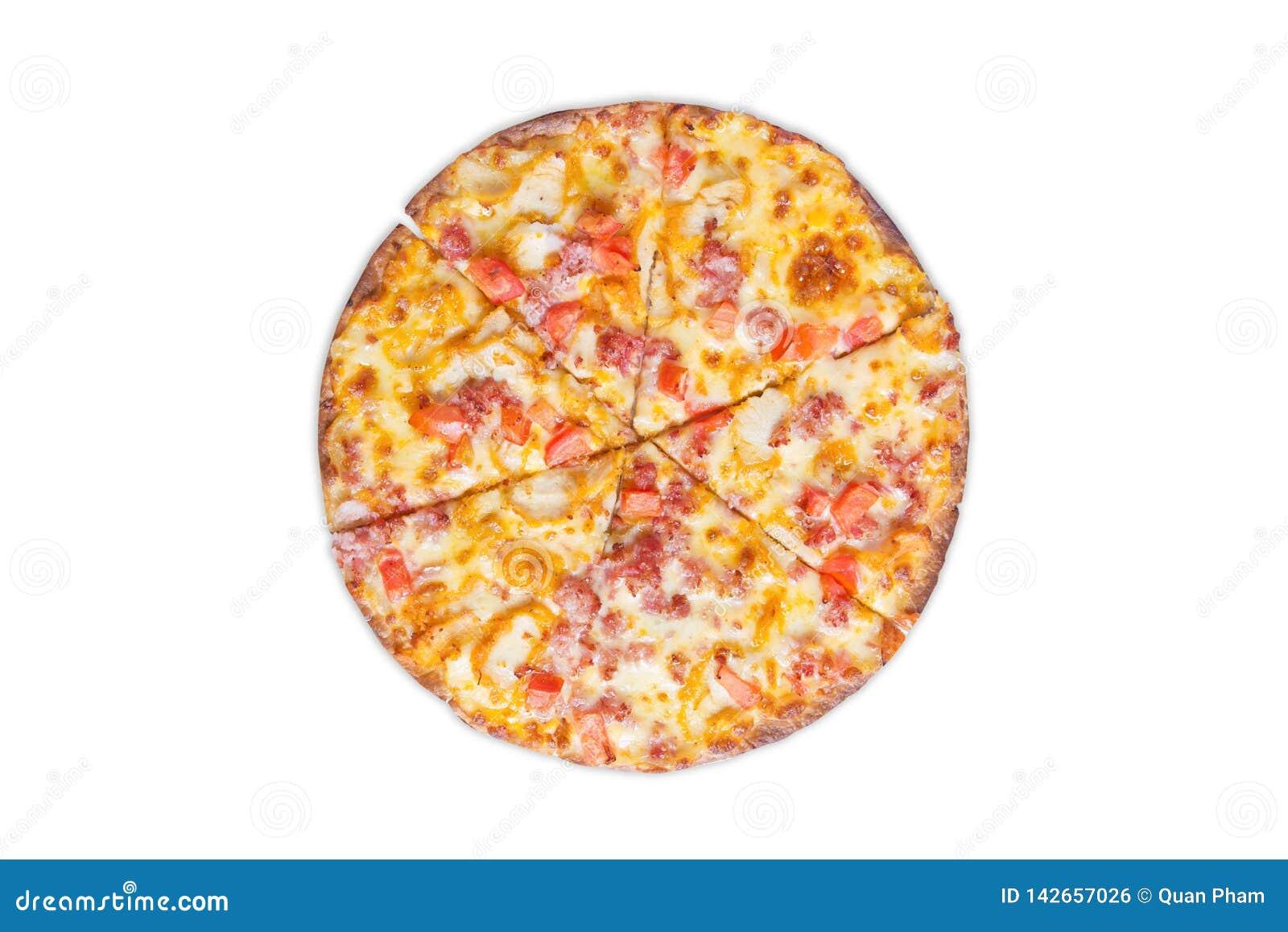 White för serie för pizza för bakgrundssnabbmatbild