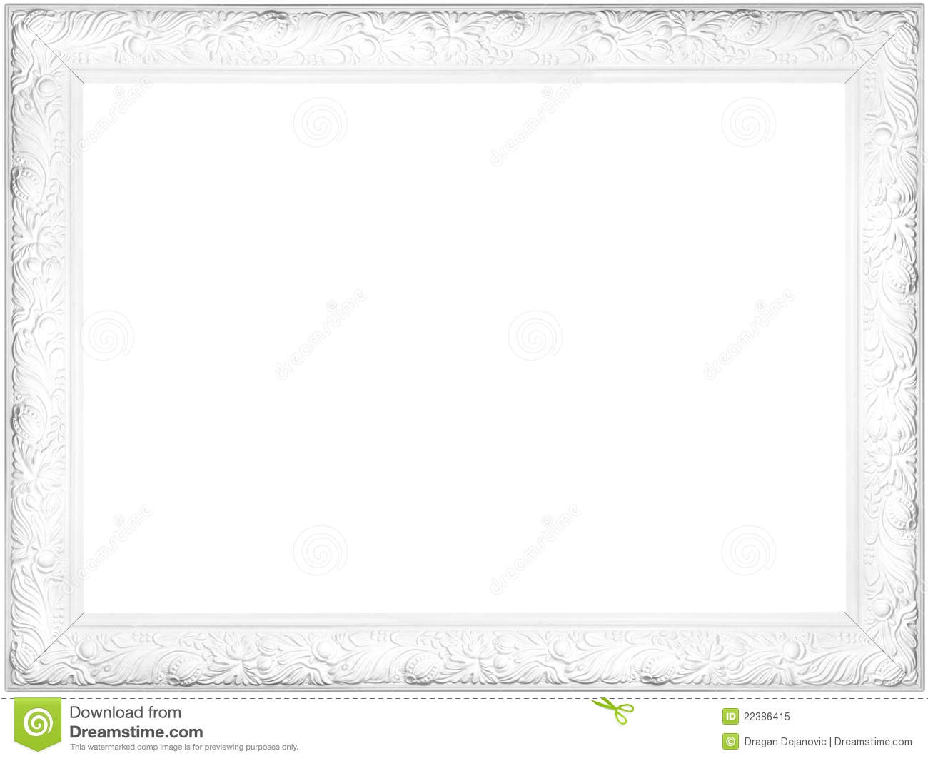 White fancy frame stock image. Image of decorative, lavish ...