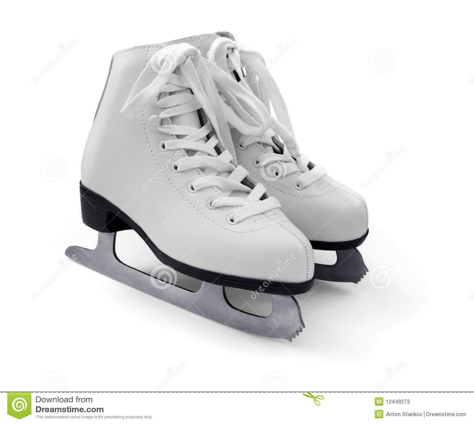 White Figure Ice Skates Stock Photos Image 12449273