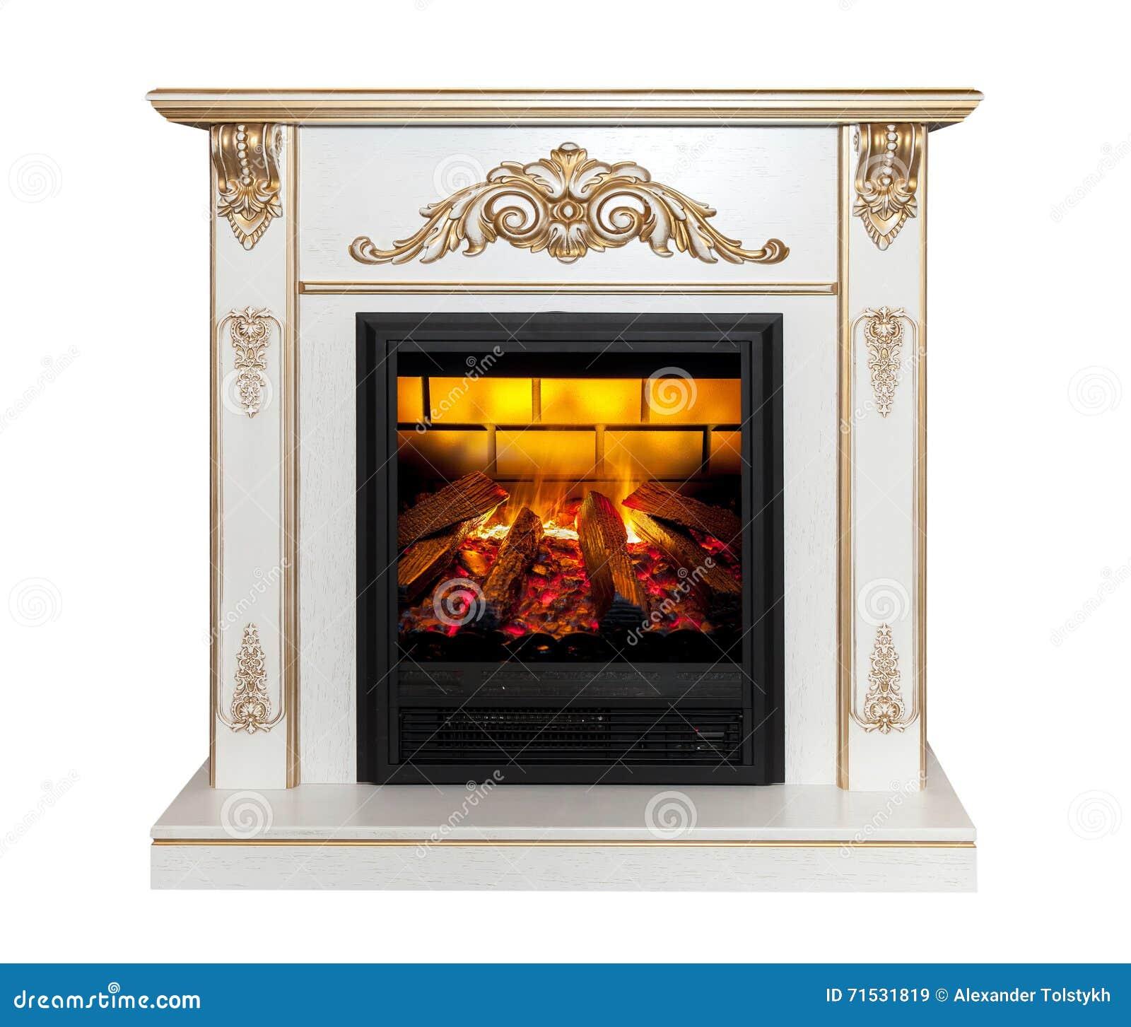 white fireplace on white background stock image image 71531819