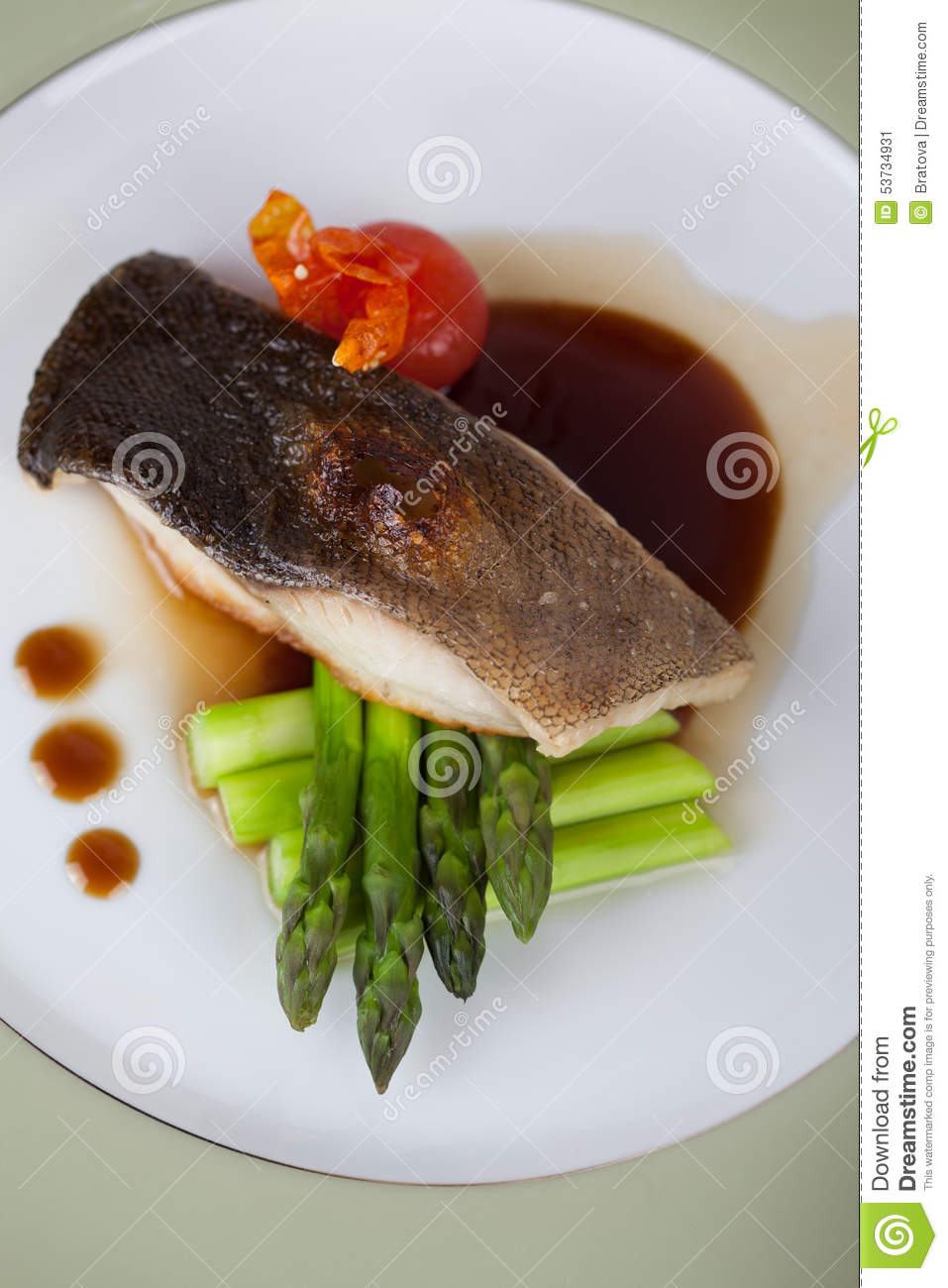 White fish with asparagus stock photo image 53734931 for White wine with fish