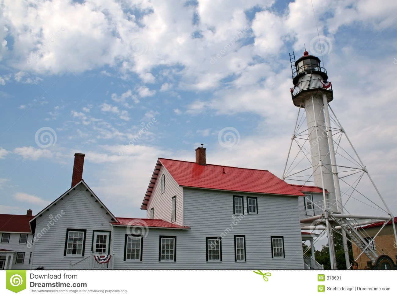 White fish point light house stock image image 978691 for Fish house lights