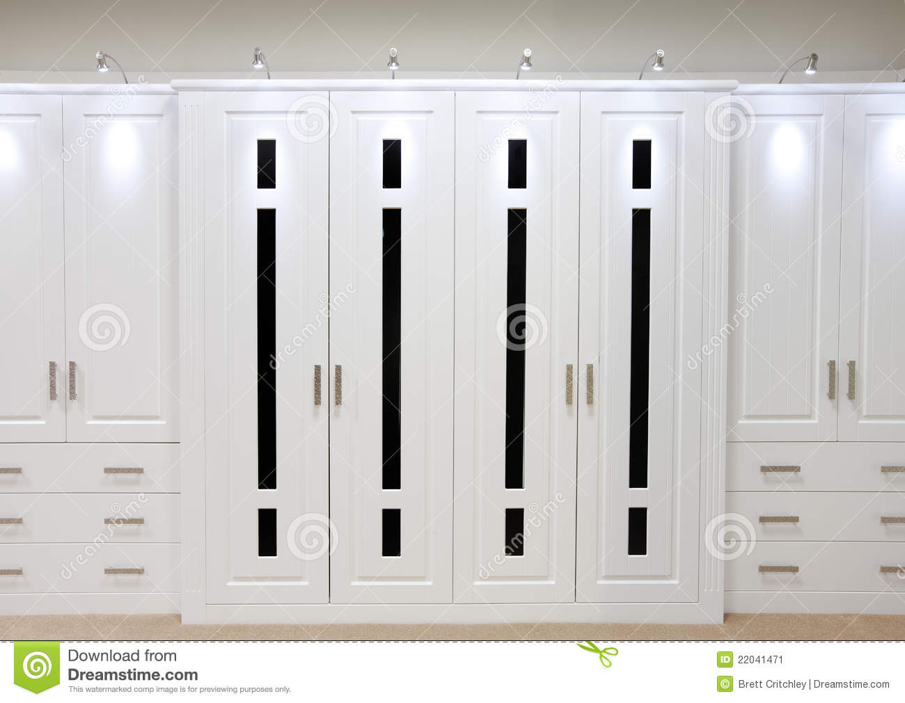 White Fitted Wardrobe Doors Stock Image - Image of fitted ...