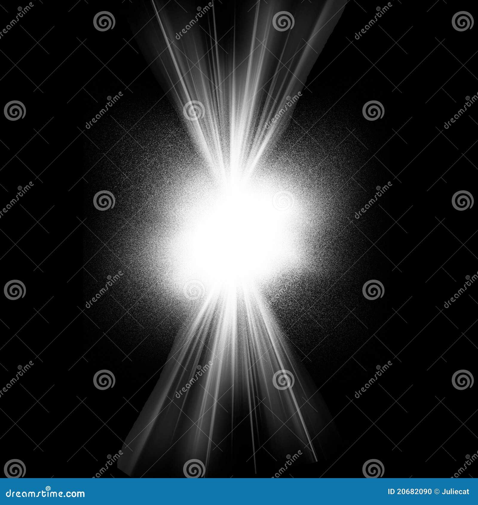 White Flash Black Background Stock Illustration