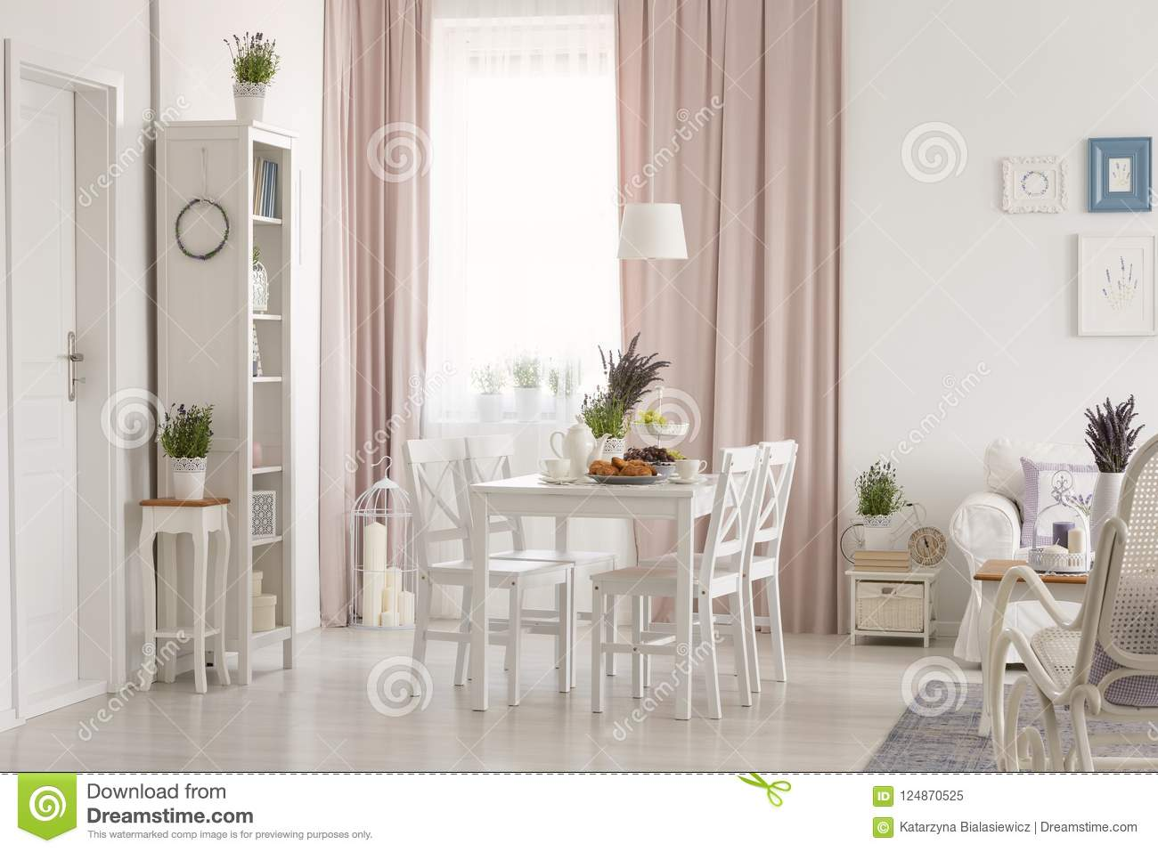 White Flat Interior With Window With Curtains, Fresh ...