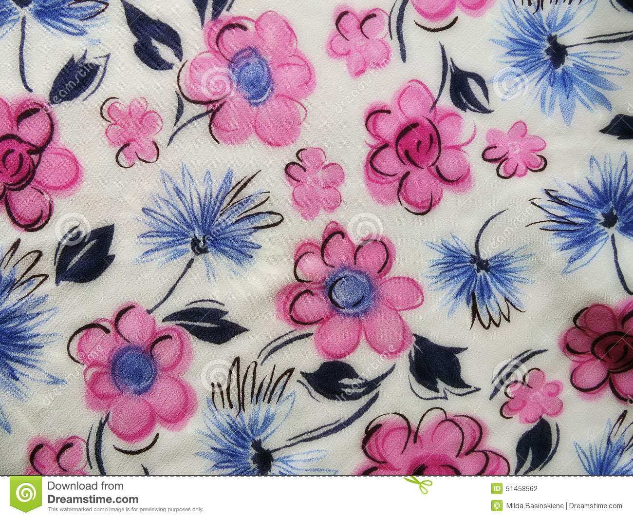 White Floral Fabric Texture Stock Photo Image Of Style Vivid
