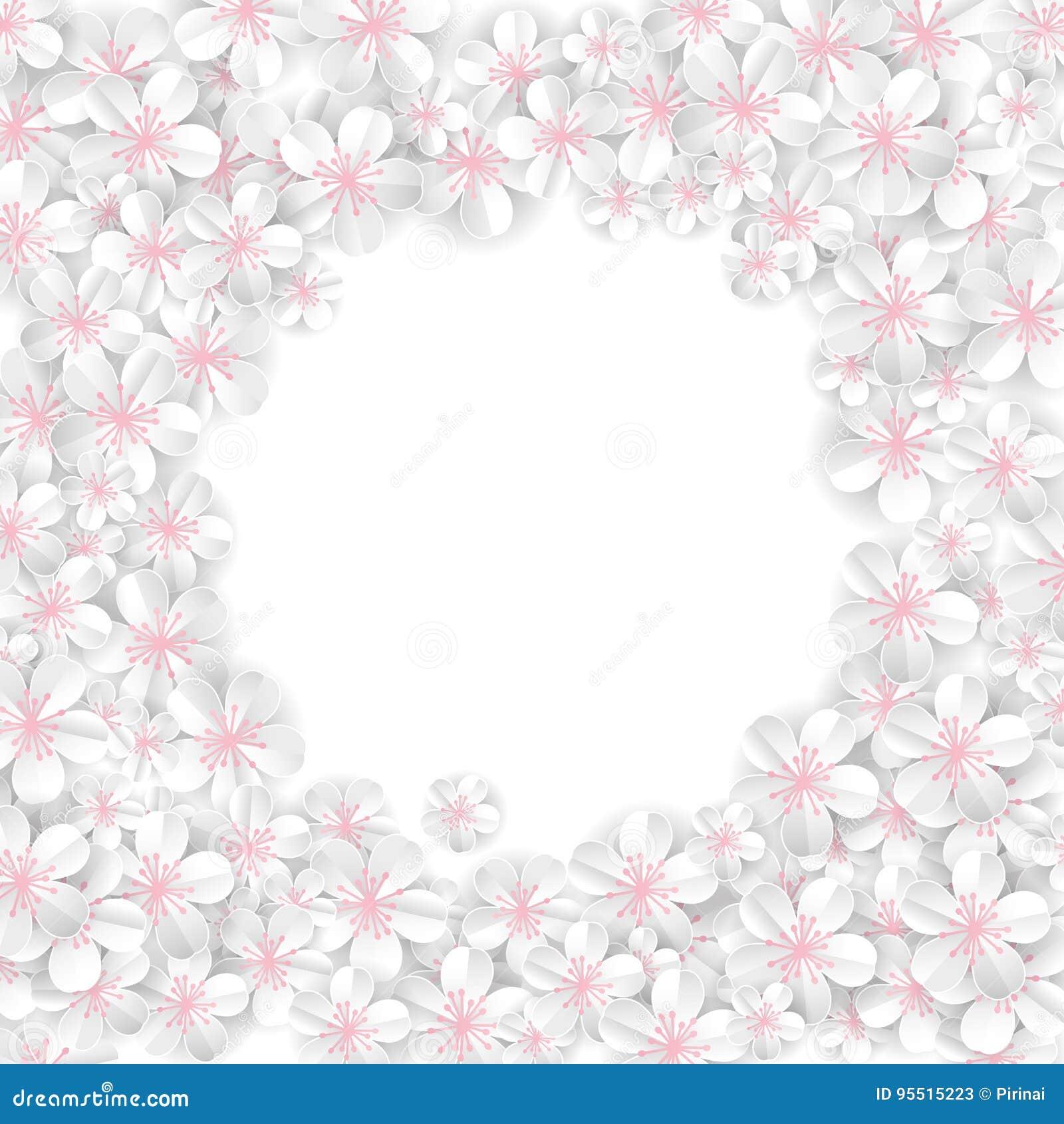 White Flowers Banner Stock Vector Illustration Of Celebrate
