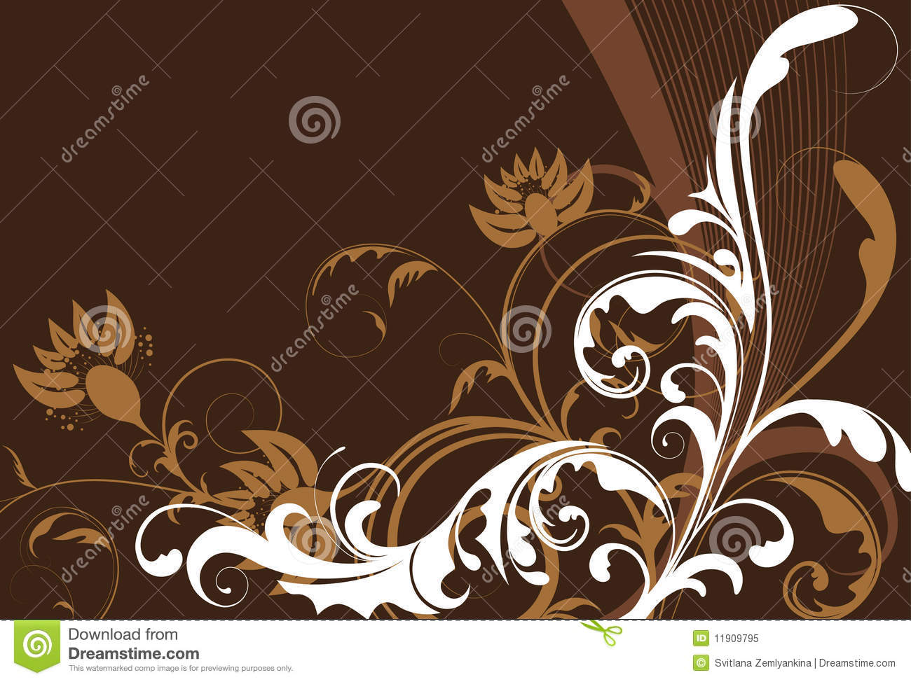 White flowers on brown background stock vector illustration of white flowers on brown background mightylinksfo