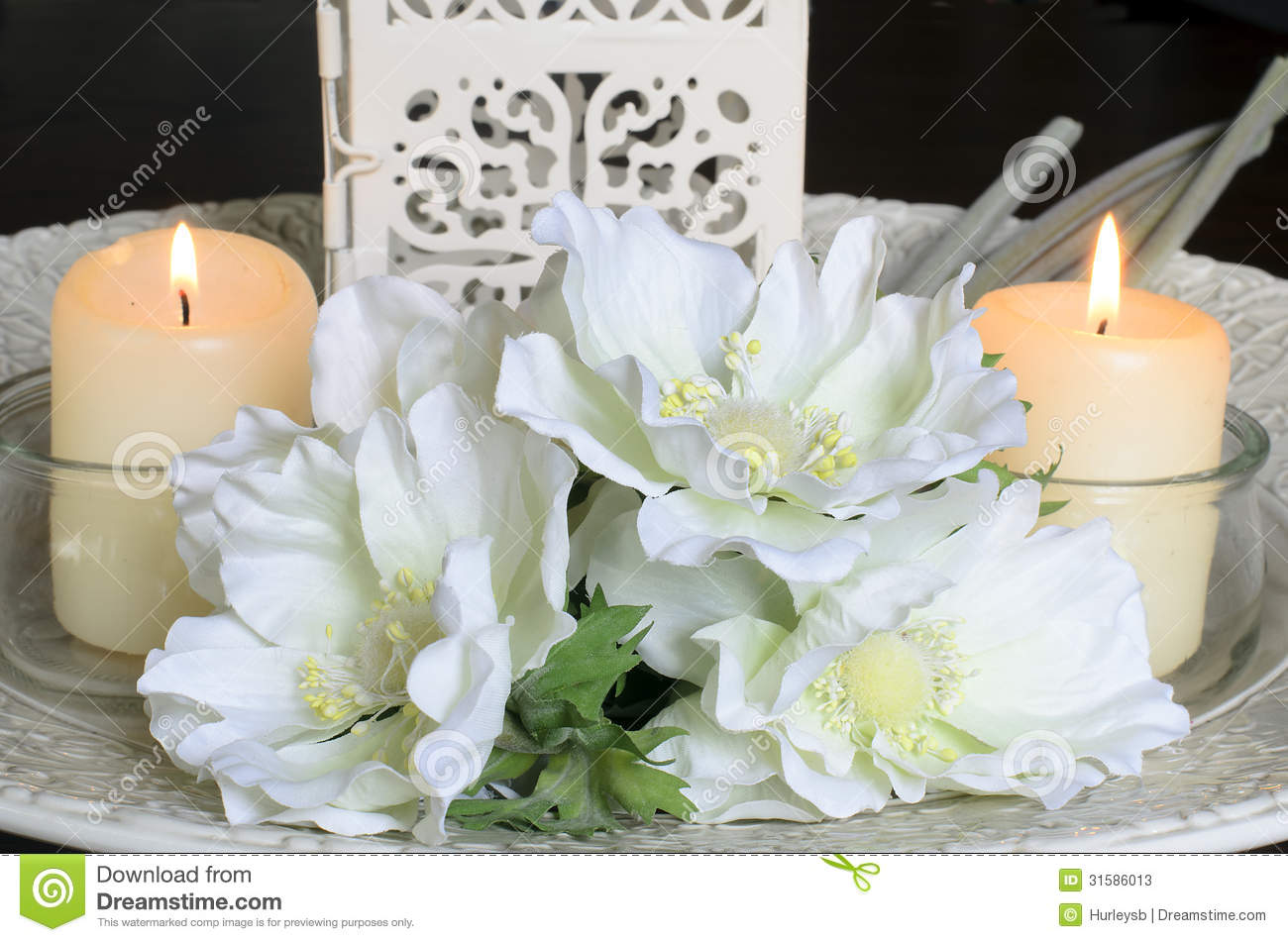 White Flowers And Candles On Stock Photos Image 31586013 : white flowers candles composition above meaning relax beauty wedding decoration 31586013 from www.dreamstime.com size 1300 x 951 jpeg 125kB