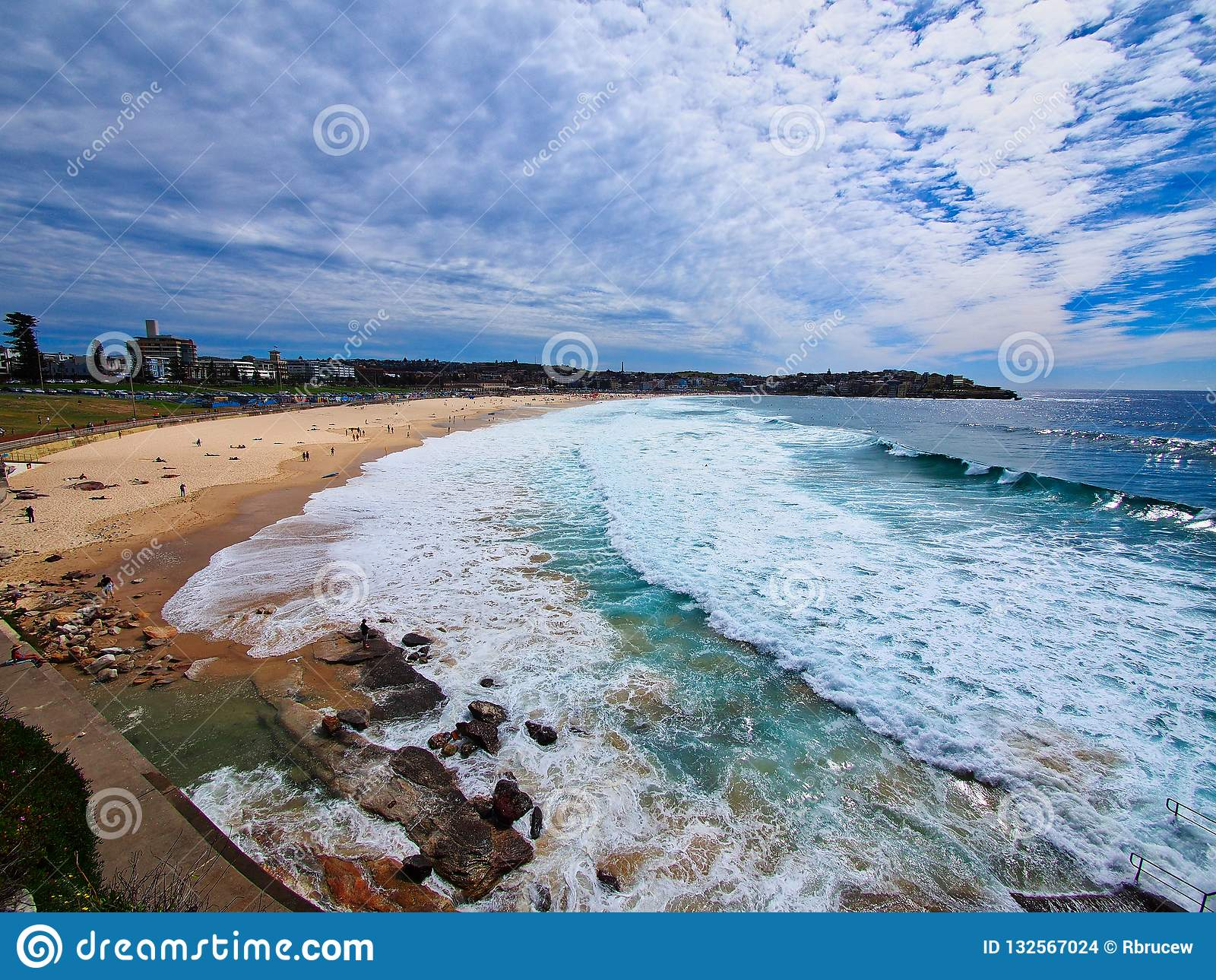Pacific Ocean Waves at Bondi Beach, Sydney, Australia