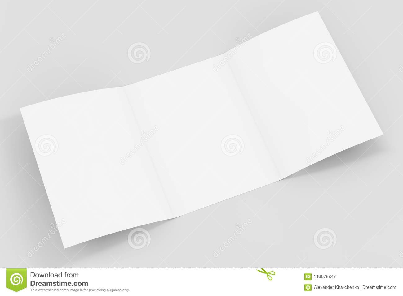 White Folded Mockup Brochure Paper With Free Space For Yours Design