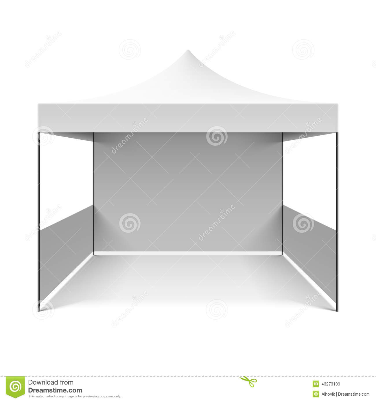 White folding tent  sc 1 st  Dreamstime.com & White folding tent stock vector. Illustration of camp - 43273109