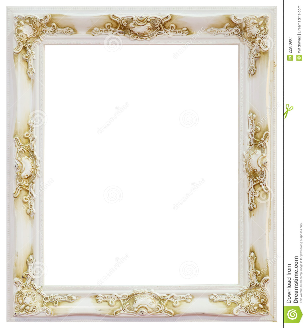 White Frame Royalty Free Stock Photography - Image: 22870867
