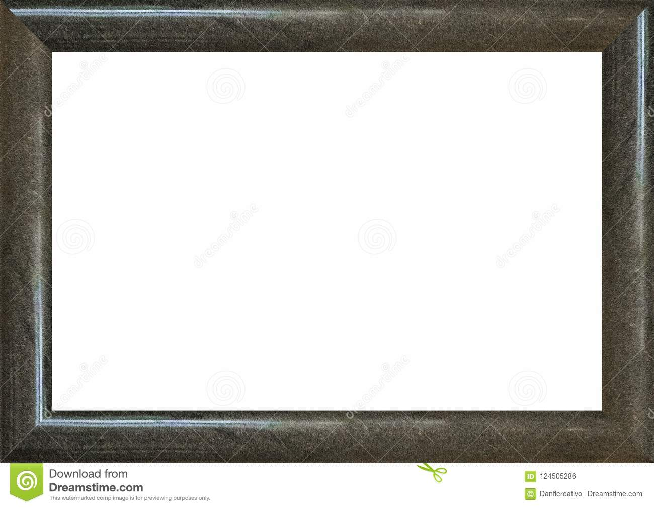 Landscape Blank Frame With Dark Marble Borders Stock Photo ...