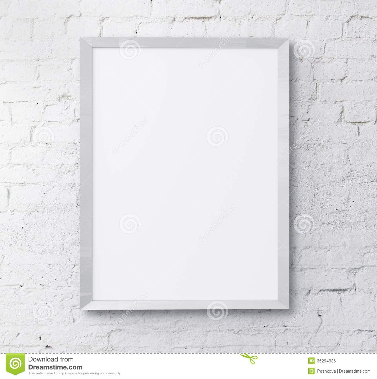 White frame royalty free stock image image 36294936 - White wall picture frames ...