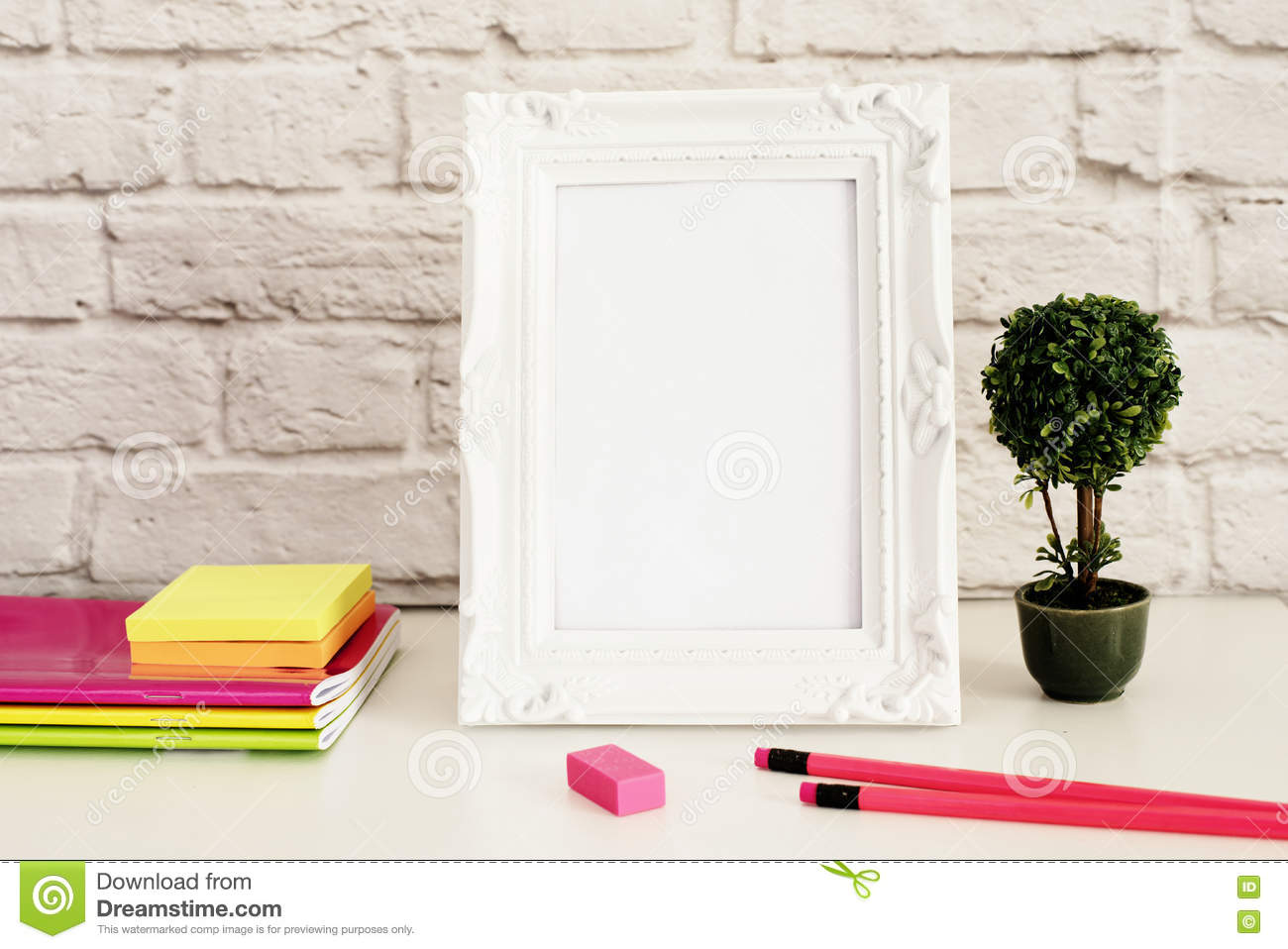 White Frame Mock Up, Digital MockUp, Display Mockup, Styled Stock ...