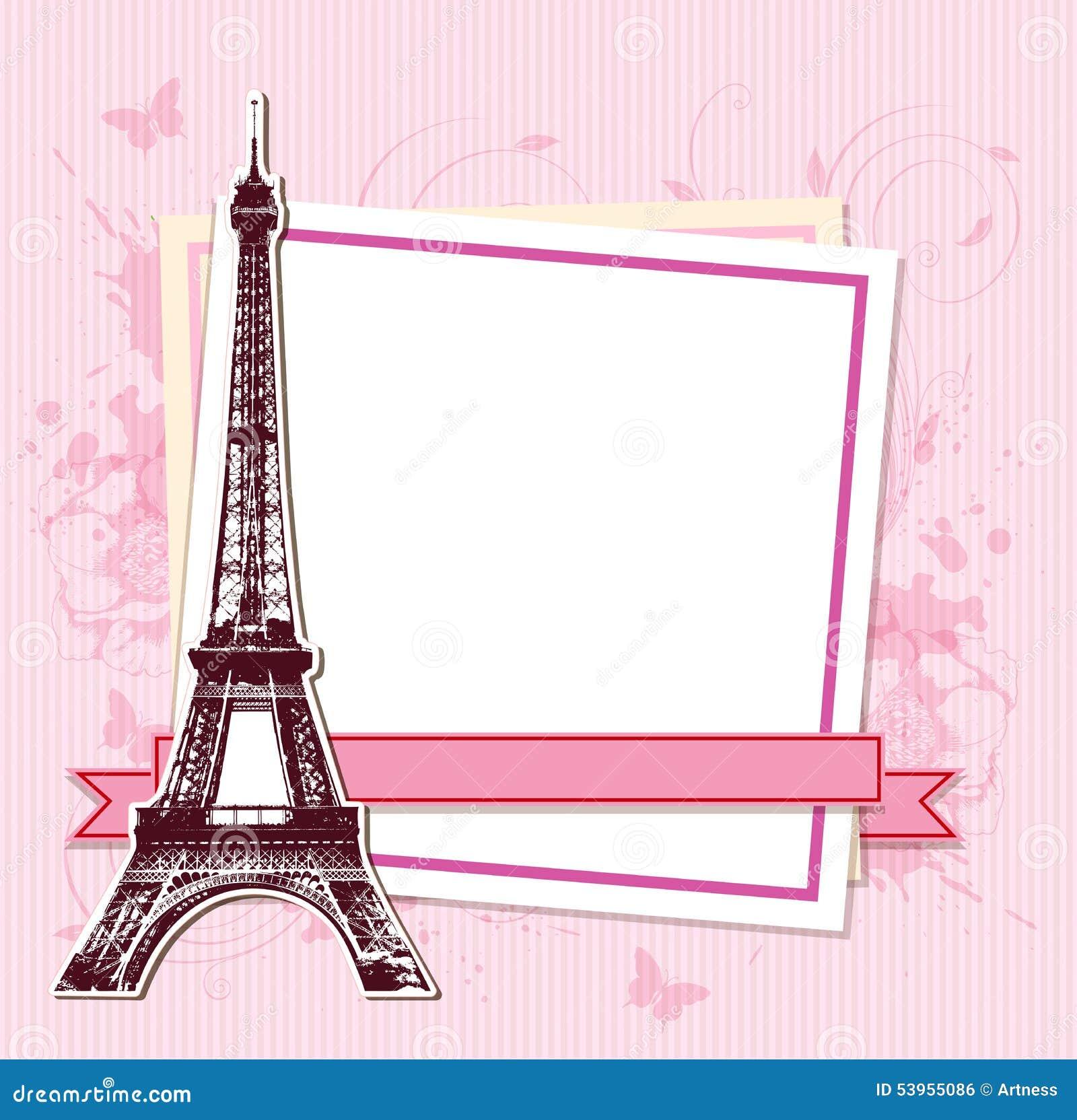 Cute Pink Paris Eiffel Tower Background Foto Bugil Bokep