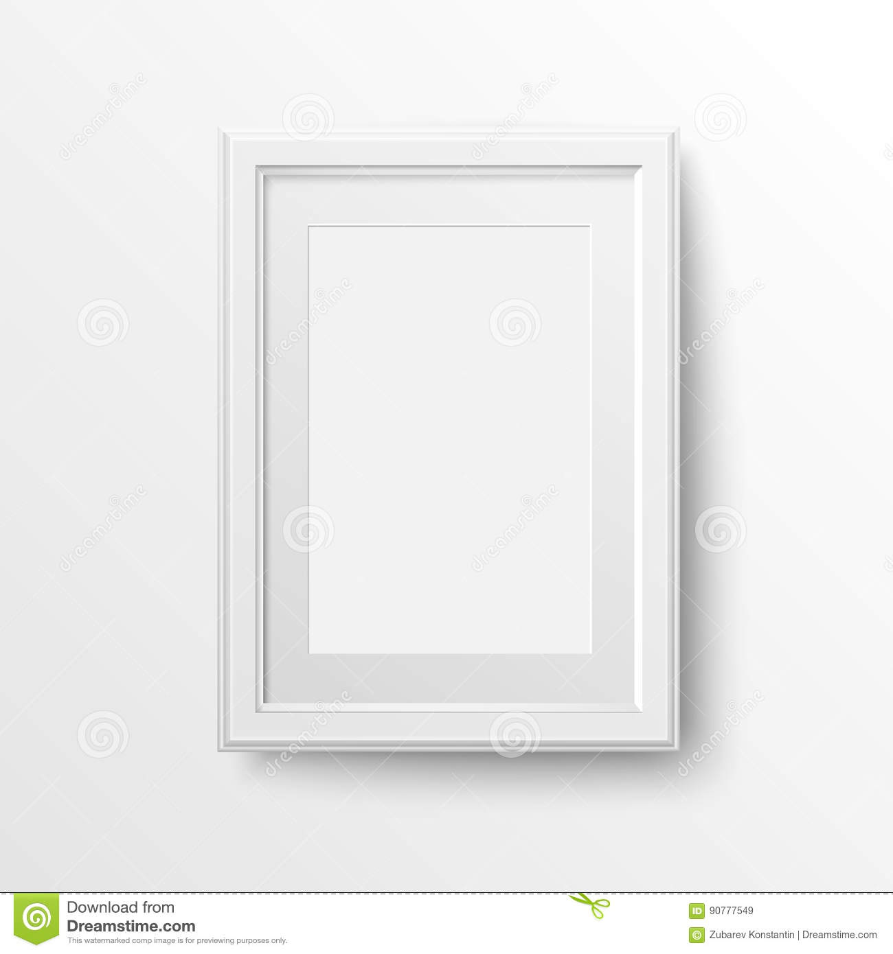 White frame for photos. stock vector. Illustration of layout - 90777549