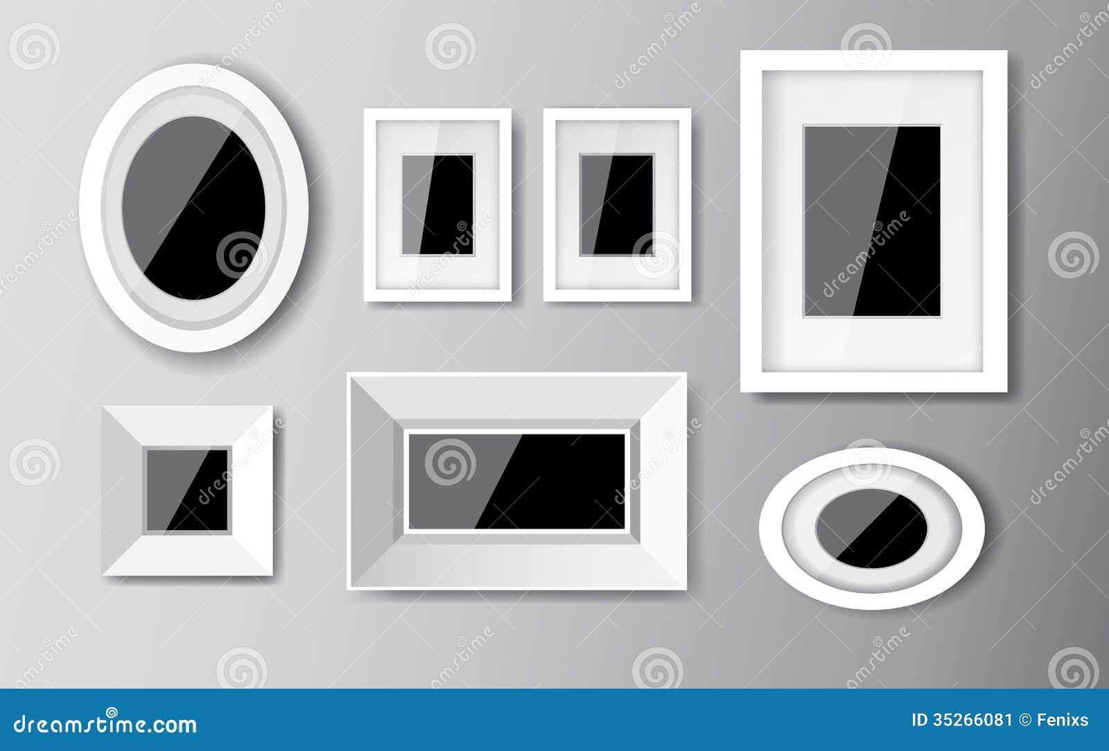 Lovely White Frame Set Part - 6: Royalty-Free Stock Photo. Download White Frames ...