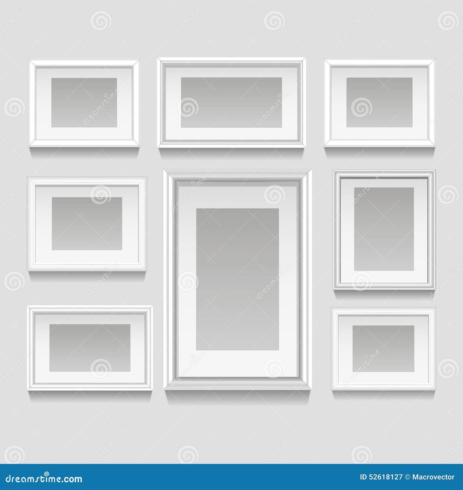 White Frame Set Part - 16: Royalty-Free Vector