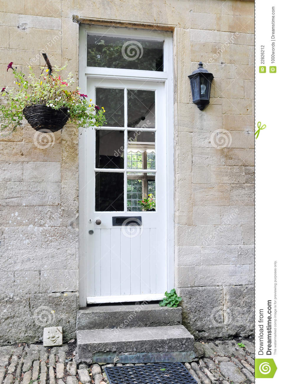 White front door stock photography image 22826212 for White front door