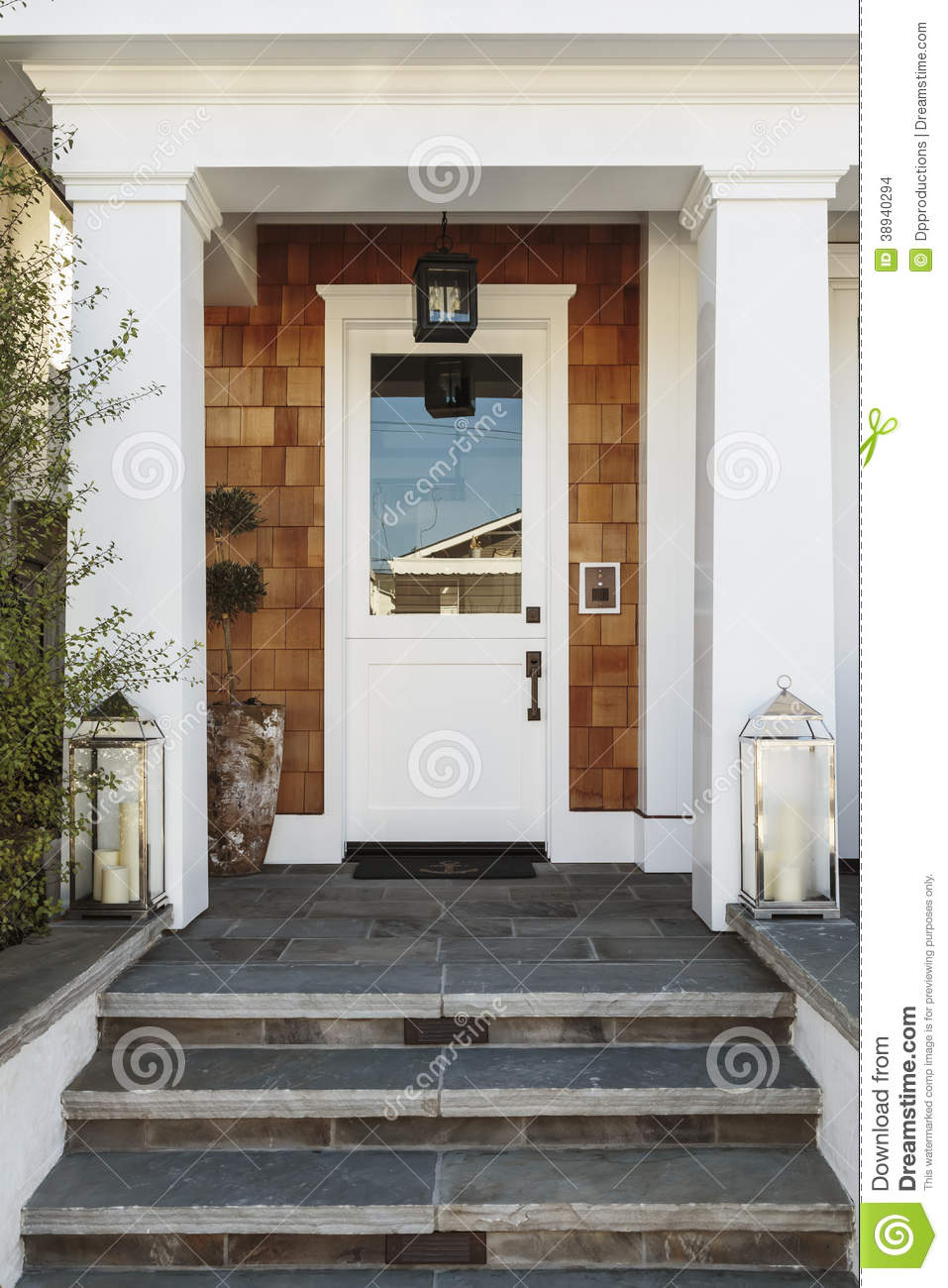 White front door to a luxury home stock photo image of for White wooden front doors