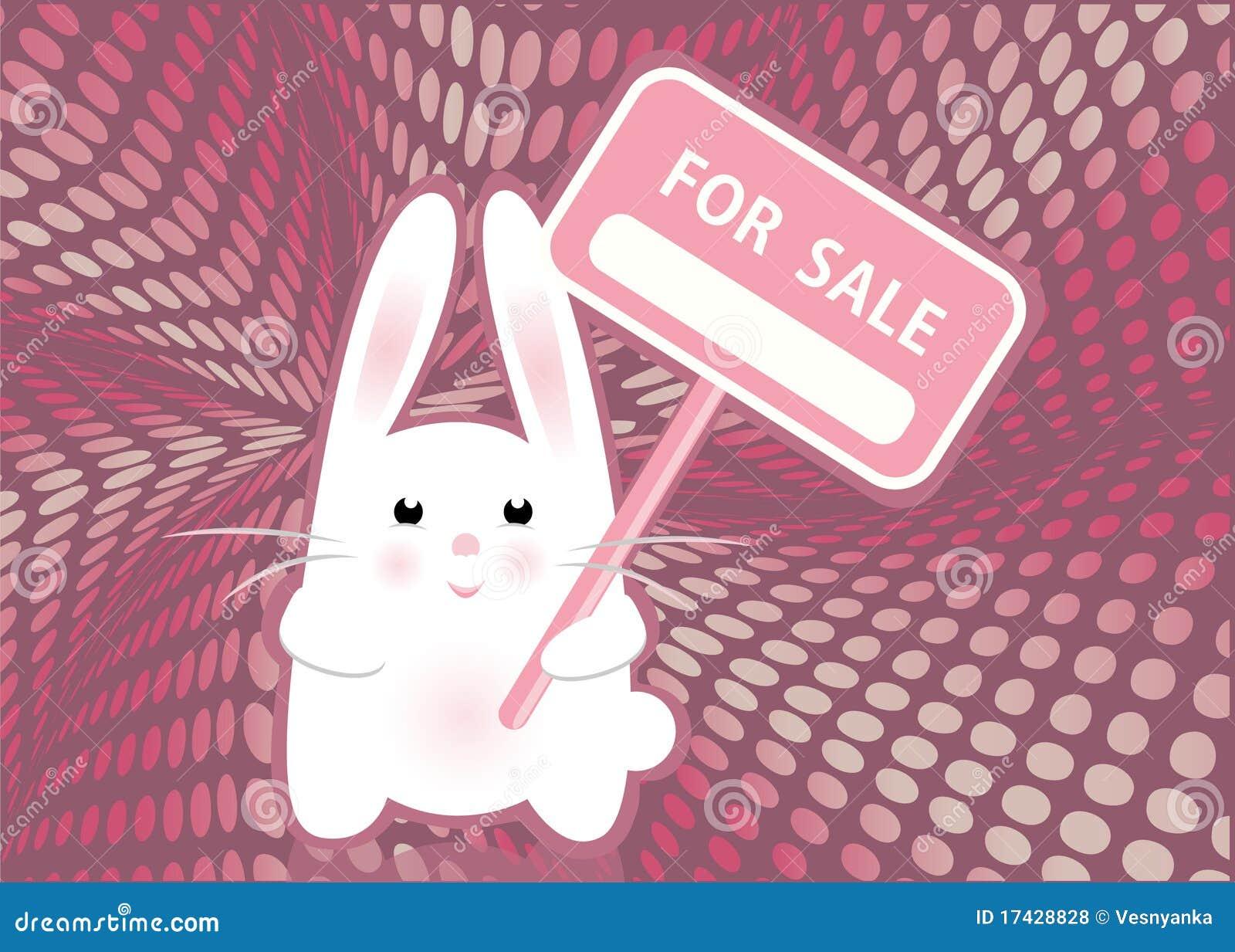 White Rabbit Stock Vector Illustration Of Dialog Dots 17428828