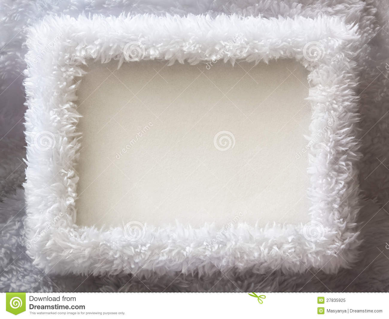White Fur Winter Frame Background Stock Image - Image of celebrate ...
