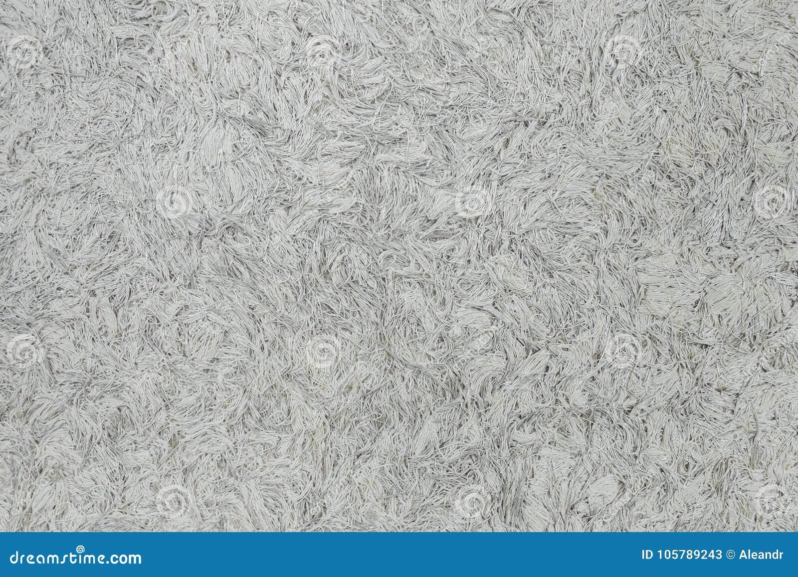 White Fuzzy Texture Liquid Wallpaper In Home Interior Stock