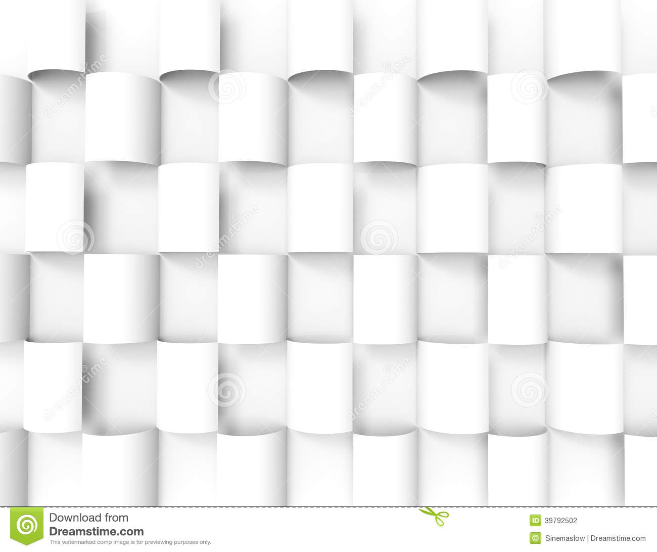 White geometric background stock illustration for Wallpaper 3d white