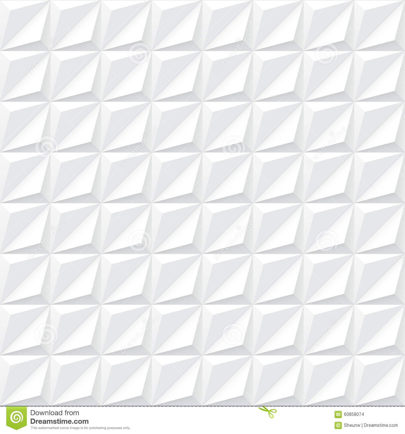 Designer White Abstract Ceramic Wall Tile Pack Of 8 L: White Geometric Texture
