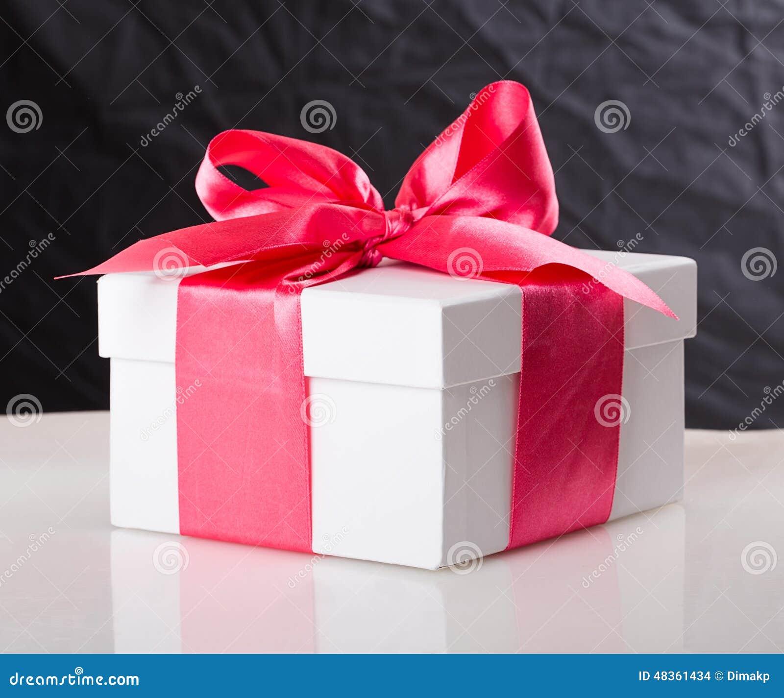 White gift box stock photo. Image of beautiful, event - 48361434