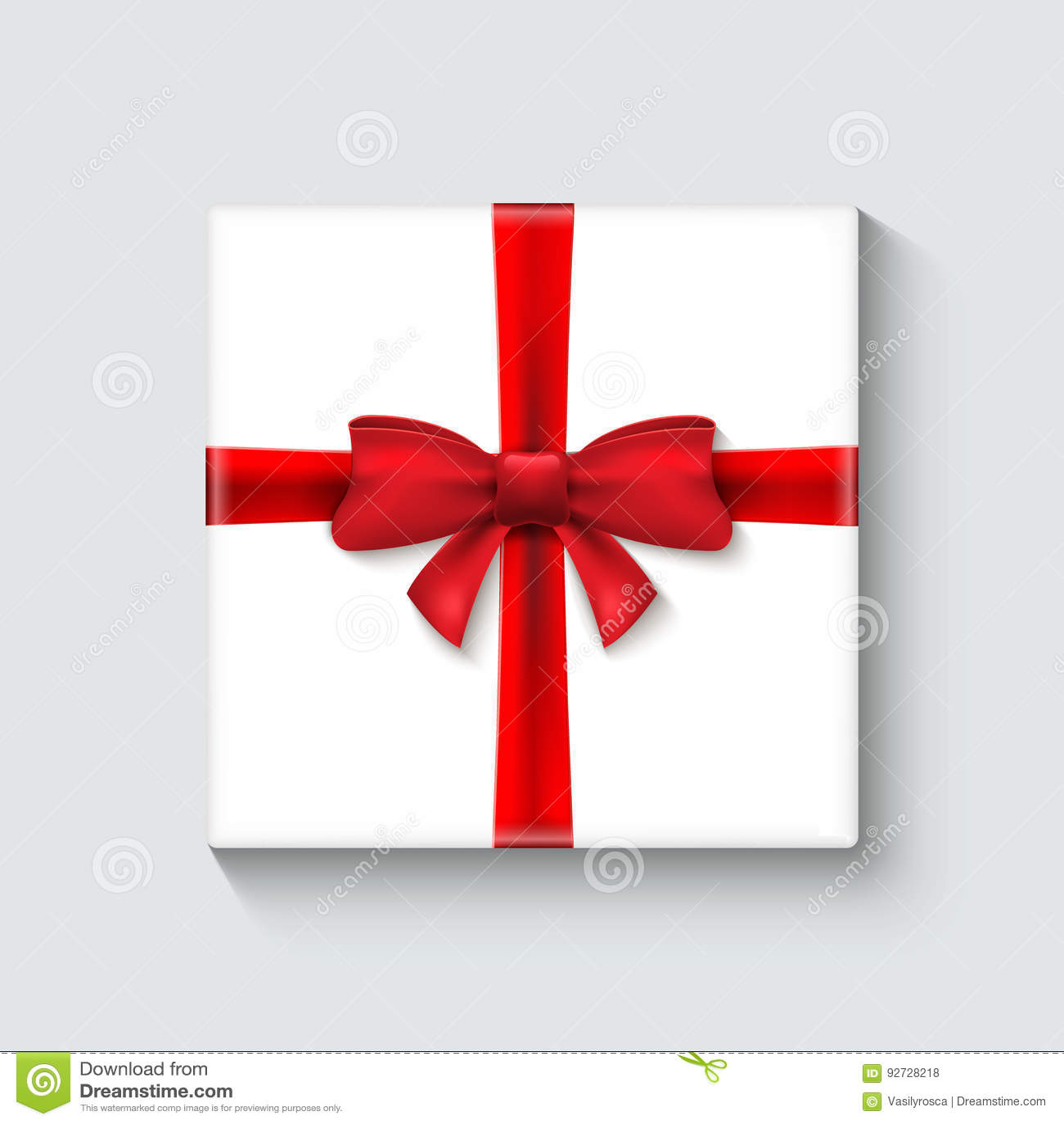 Decoration De Paquets Cadeaux white gift box with red ribbon. celebration decoration