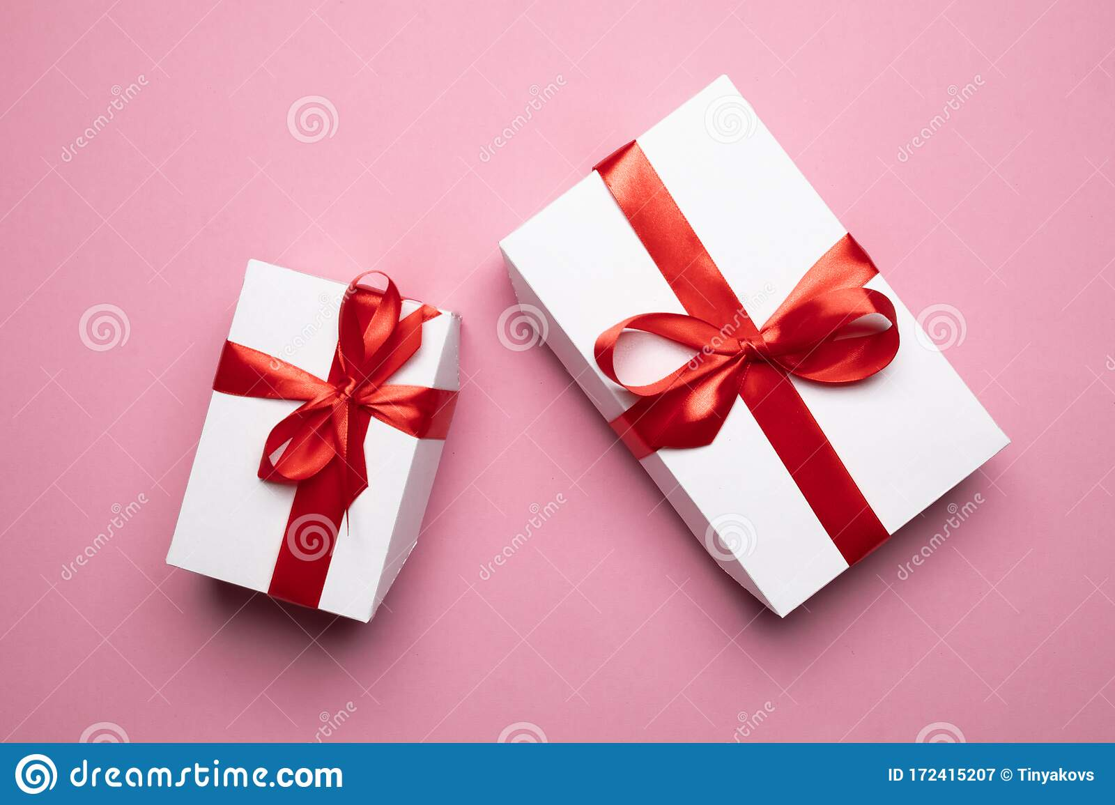 White Gift boxes bow Birthday gift box PINK RED LEOPARD