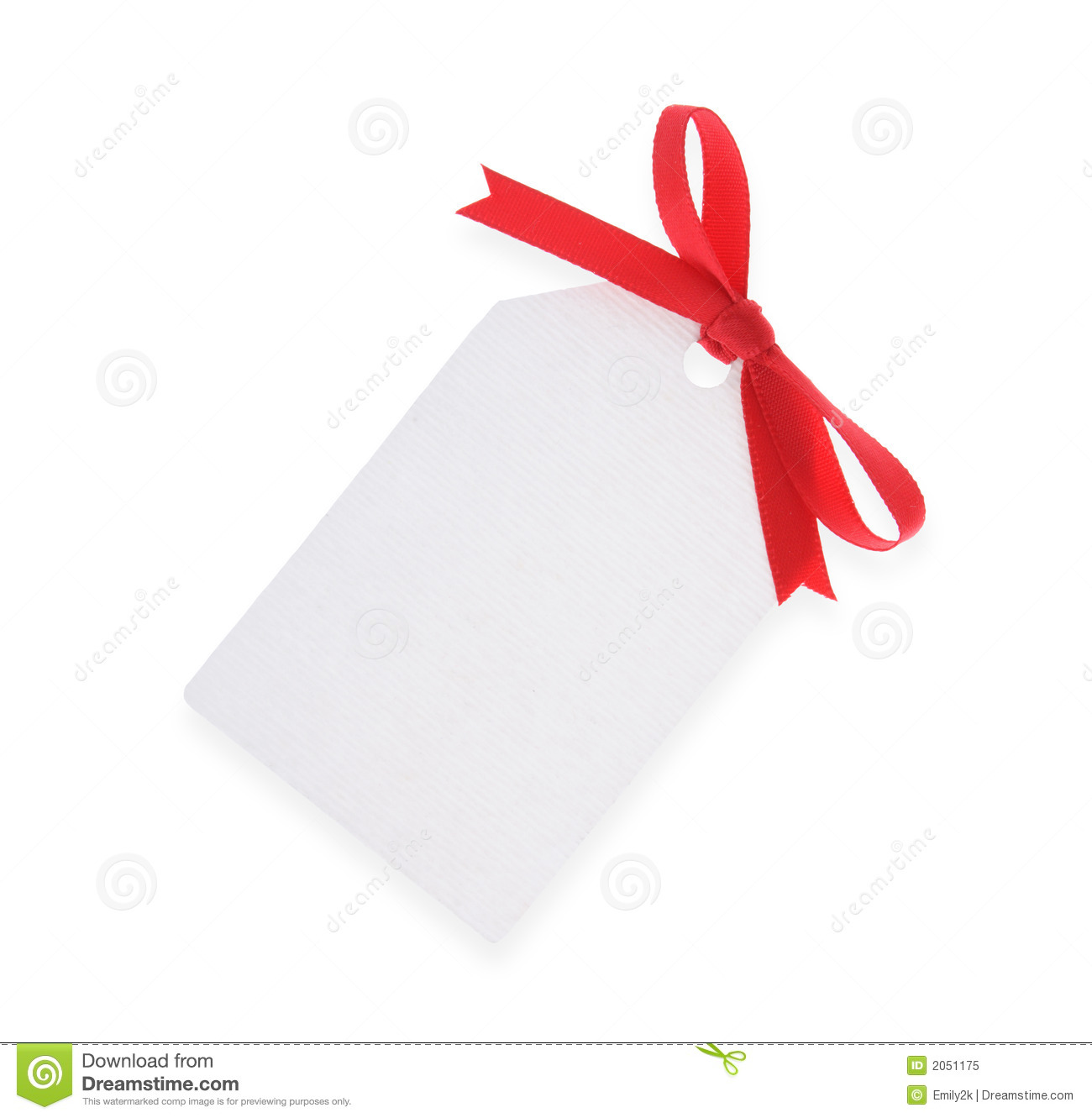 white gift tag with red bow stock image image of string business