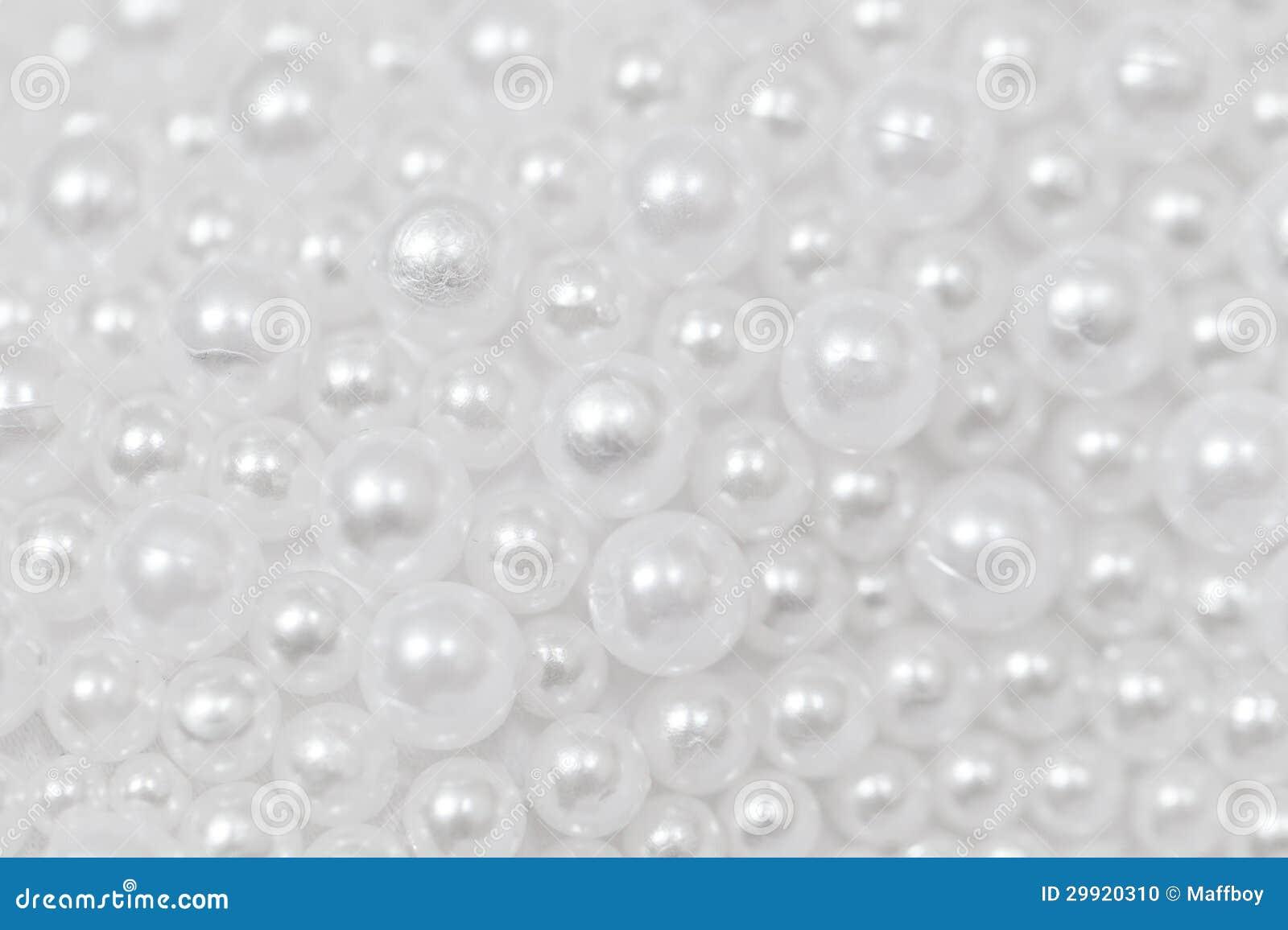 White Beads Stock Photo Image 29920310
