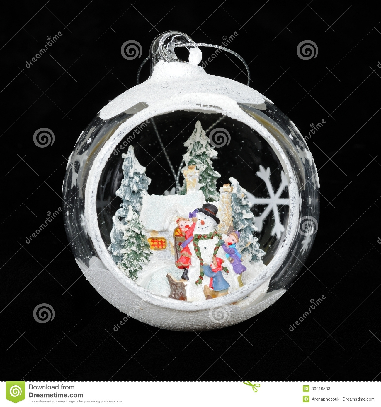 With white christmas background and snow vector vector background - White Glass Christmas Bauble Stock Photos Image 30919533