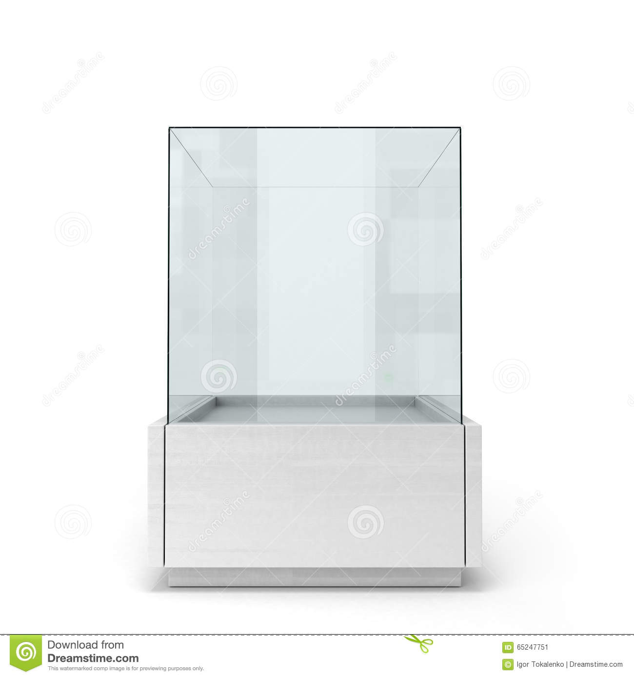 White Glass Window On A White Background Front View Stock
