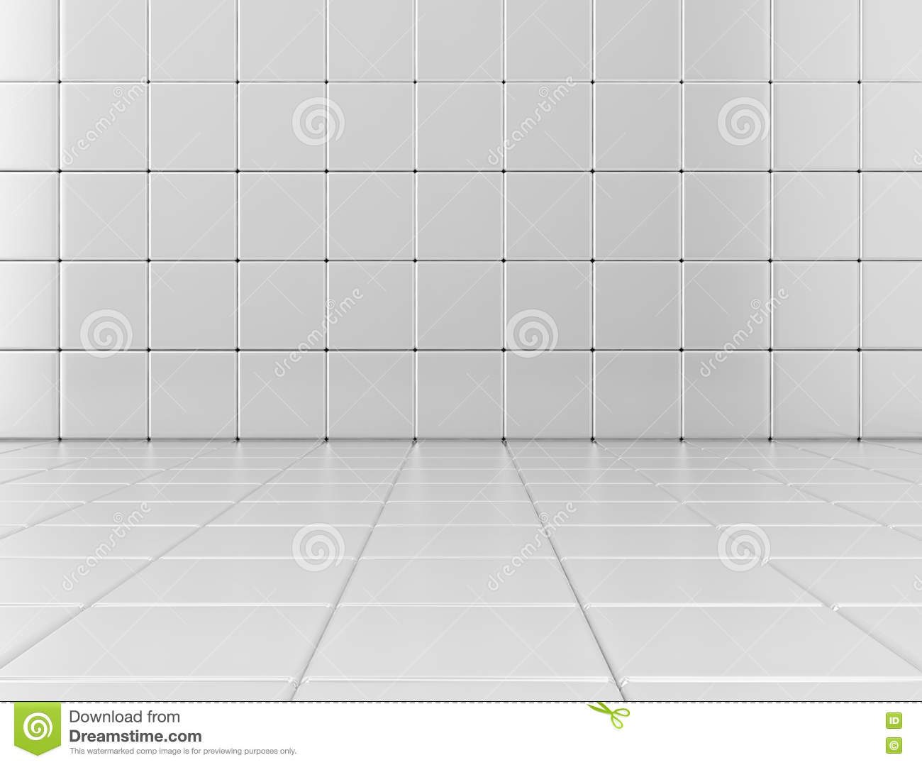 White Glossy Bathroom Tile Background Stock Illustration