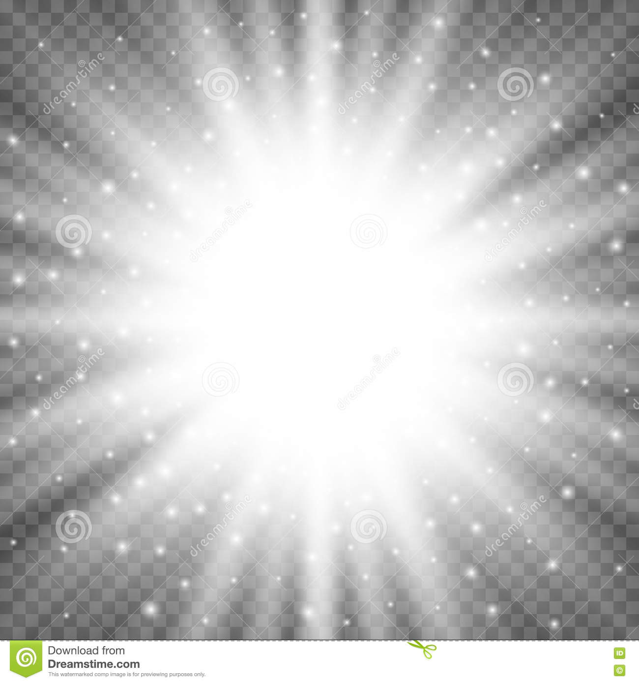 Superior ... White Glowing Light Burst Explosion On Transparent Background. Bright  Flare Effect Decoration With Ray Sparkles Idea