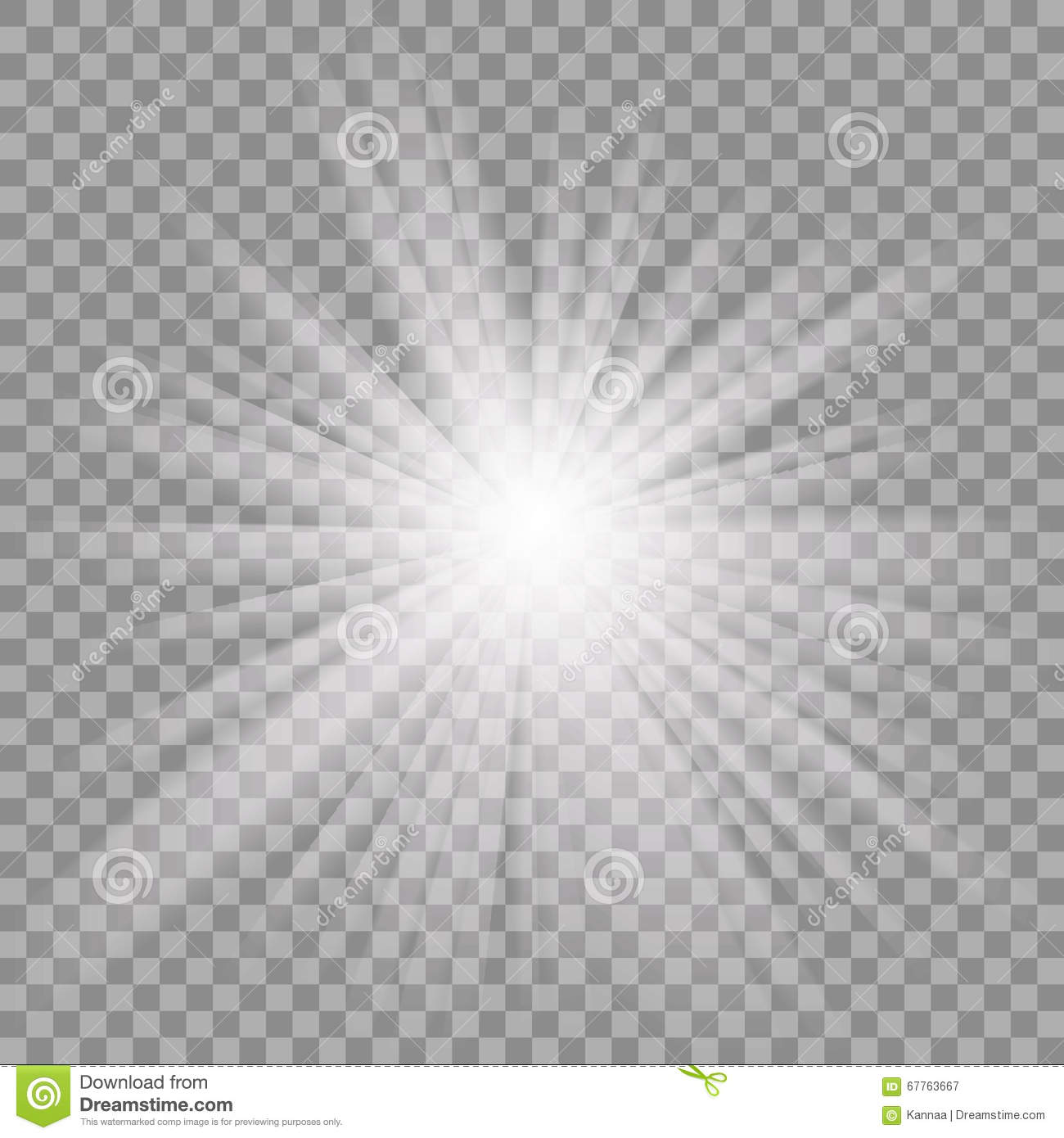 White Glowing Light Burst On Transparent Background. Stock Vector ... for Light Effects White Background  111bof