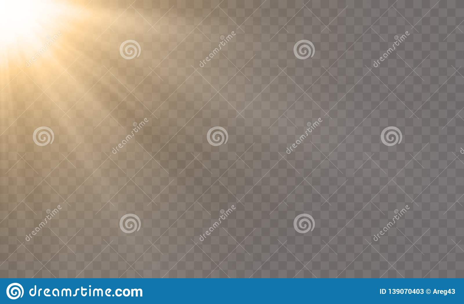 White glowing light explode effect, sun rays shine vector transparent background