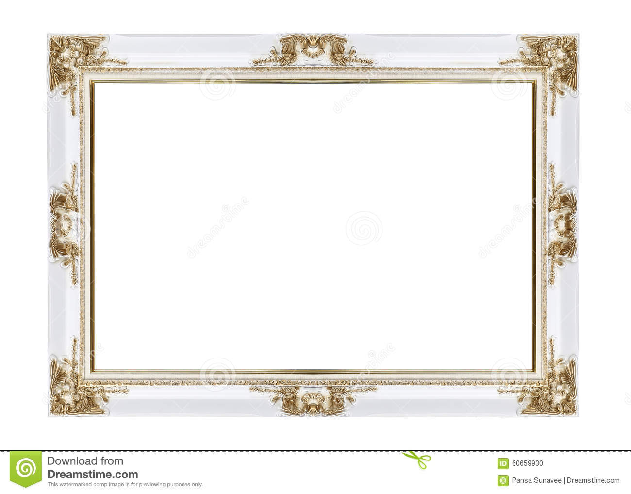 White And Gold Classical Vintage Frame Stock Photo Image Of Retro