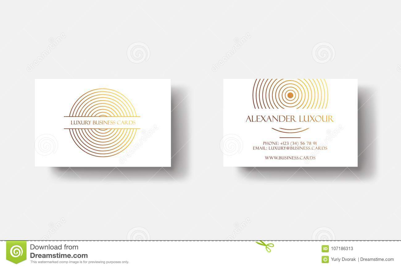 White gold luxury business cards for vip event elegant greeting white gold luxury business cards for vip event elegant greeting card with golden circle geometric m4hsunfo