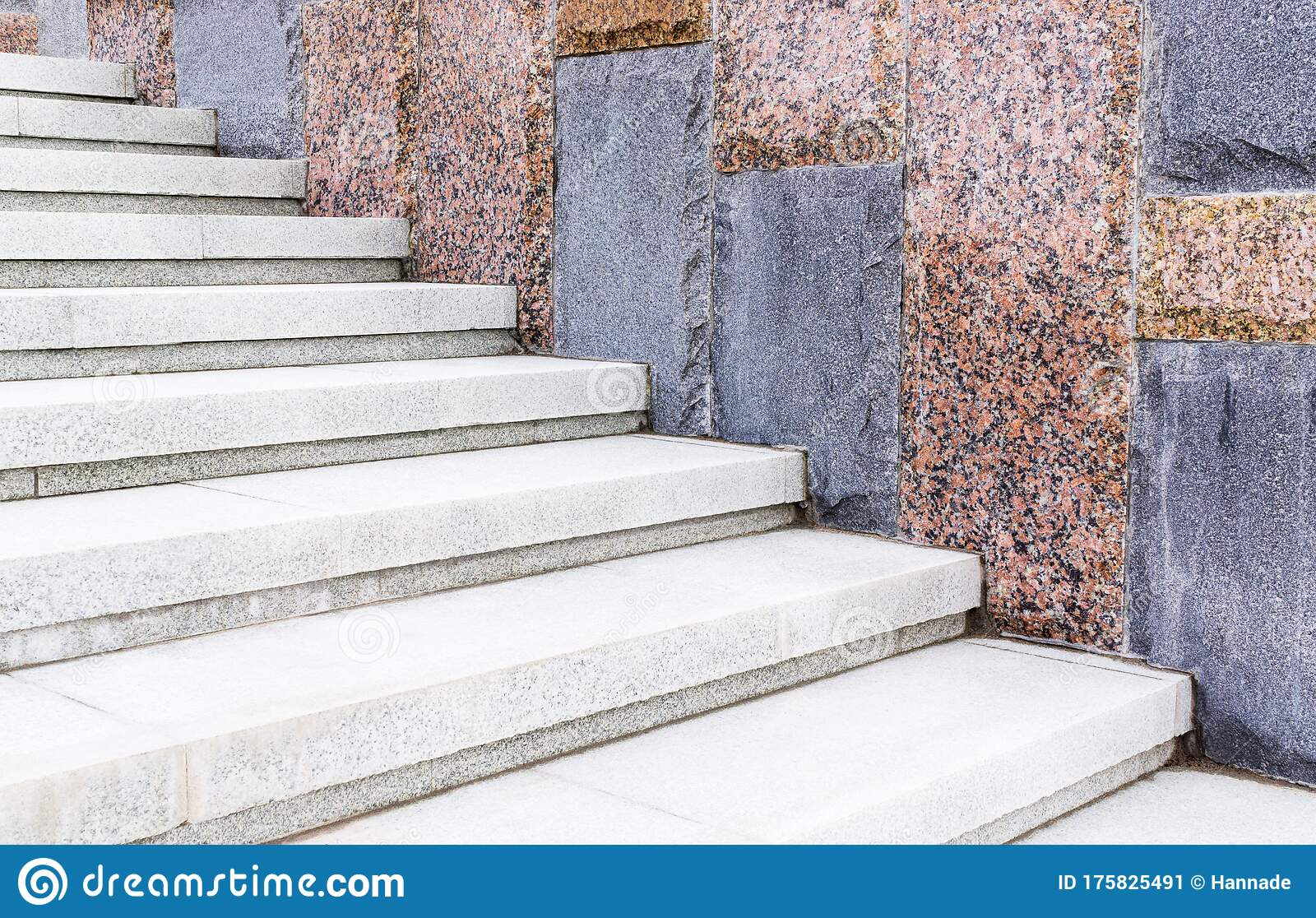 White Granite Staircase Stock Image Image Of Stair 175825491