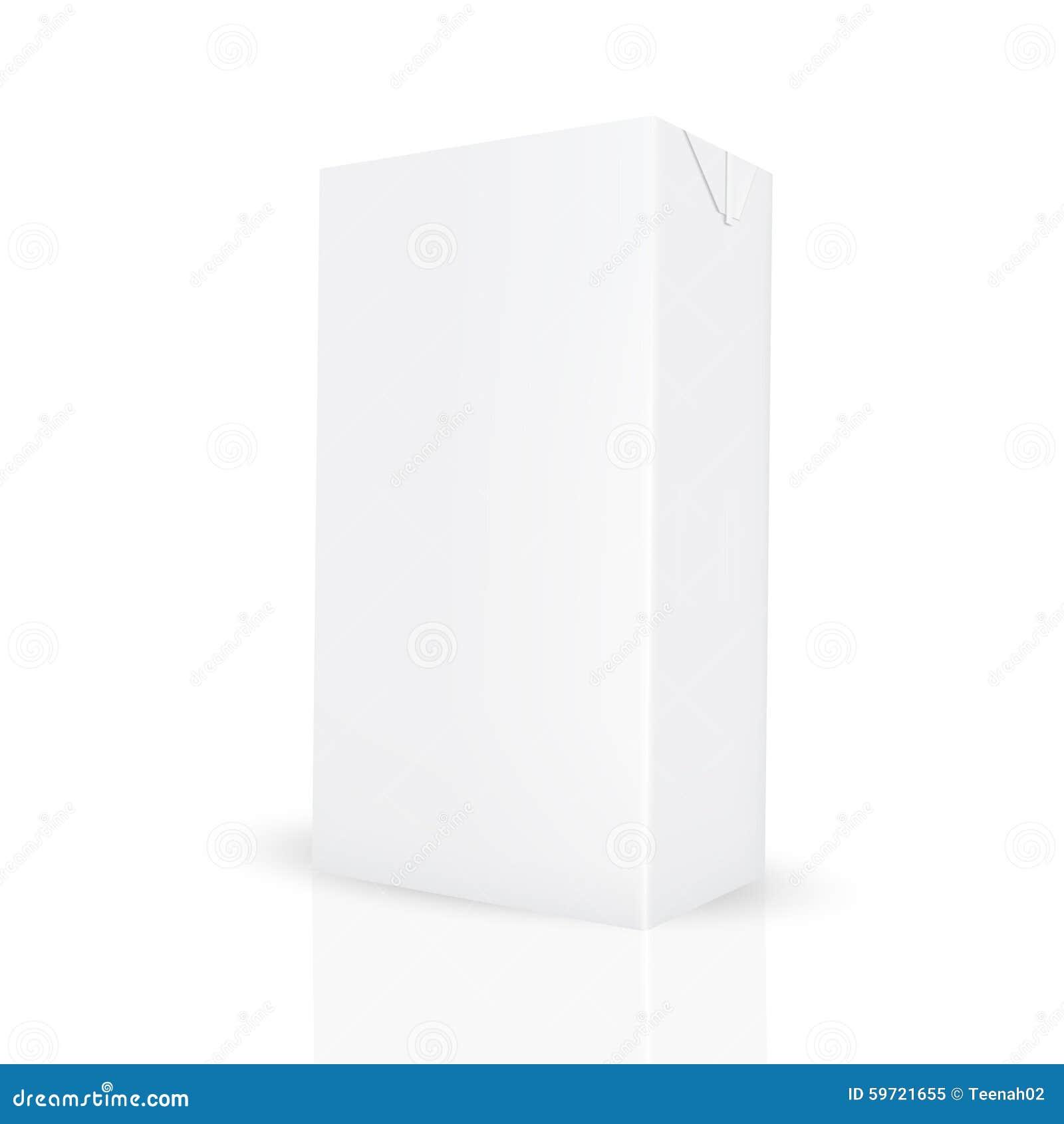 white gray carton box for liquid like juice  milk stock